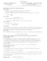 Bộ đề thi thử đại học - cao đẳng năm 2011 của trường đại học sư phạm Hà Nội môn toán doc