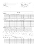 ĐỀ KIỂM TRA CUỐI HỌC KỲ MÔN LỊCH SỬ LỚP 4 pdf