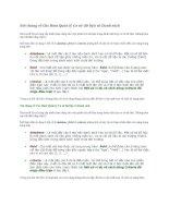Nói chung về Các Hàm Quản lý Cơ sở dữ liệu và Danh sách potx