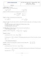 Đề ôn thi học kỳ 2 môn toán lớp 11 - Đề số 31 pot