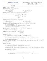 Đề ôn thi học kỳ 2 môn toán lớp 11 - Đề số 34 pdf