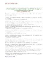 Đề thi trắc nghiệm ngân hàng Sacombank docx