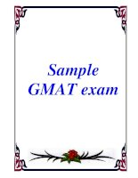 Sample GMAT exam doc