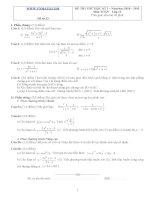 Đề ôn thi học kỳ 2 môn toán lớp 11 - Đề số 33 pptx