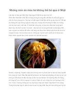 Những món ăn mùa hè không thể bỏ qua ở Nhật pdf