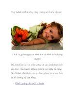 Top 5 chất dinh dưỡng tăng cường sức khỏe cho trẻ ppt