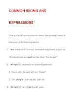 COMMON IDIOMS AND EXPRESSIONS ppsx