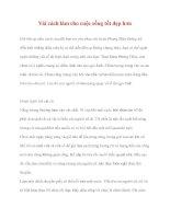 Vài cách làm cho cuộc sống tốt đẹp hơn pdf