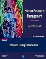 Human Resource Management - Chapter 6 doc
