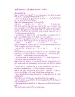Tuyển tập các câu trắc nghiệm hóa học ( phần 2) doc