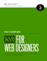 CSS 3 for Web designers ppsx