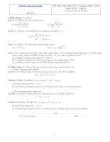 Đề ôn thi học kỳ 2 môn toán lớp 11 - Đề số 21 potx