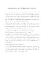 NHỮNG VẤN ĐỀ VỀ SỨC KHOẺ PHỤ NỮ pdf