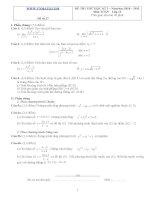 Đề ôn thi học kỳ 2 môn toán lớp 11 - Đề số 27 potx