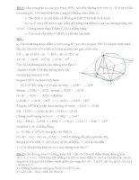 Bài tập và lời giải chi tiết Hình học ôn vào lóp 10 docx