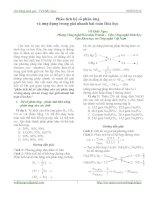 Phân tích hệ số và ứng dụng trong HÓA HỌC pptx