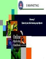 Chương 7 - Quản trị xúc tiến thương mại điện tử pptx
