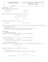 Đề ôn thi học kỳ 2 môn toán lớp 11 - Đề số 24 pps