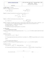 Đề ôn thi học kỳ 2 môn toán lớp 11 - Đề số 29 pdf