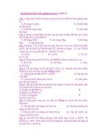 Tuyển tập các câu trắc nghiệm hóa học ( phần 10) docx