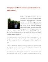 Sử dụng thuốc BVTV như thế nào cho an toàn và hiệu quả cao? ppsx