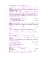 Tuyển tập các câu trắc nghiệm hóa học ( phần 4) doc