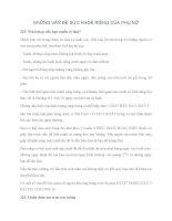 NHỮNG VẤN ĐỀ VỀ SỨC KHOẺ PHỤ NỮ (TT) pdf