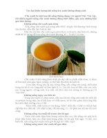 tác hại khôn lường khi uống trà xanh không đúng cách