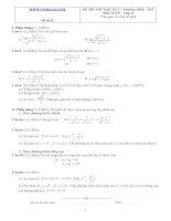 Đề ôn thi học kỳ 2 môn toán lớp 11 - Đề số 32 docx