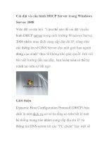 Cài đặt và cấu hình DHCP Server trong Windows Server 2008 ppsx