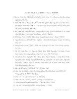 Luận văn : ẢNH HƯỞNG CỦA VIỆC TIẾP CẬN NGUỒN NƯỚC ĐẾN THU NHẬP CỦA HỘ NÔNG DÂN XÃ TÂN LẬP, HUYỆN CHỢ ĐỒN, TỈNH BẮC KẠN part 10 docx