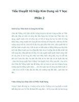 Tiểu thuyết Võ hiệp Kim Dung và Y học Phần 2 pptx