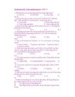 Tuyển tập các câu trắc nghiệm hóa học ( phần 6) doc