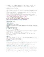 Những BÀI THUỐC DÂN GIAN Hữu Nghiệm pdf
