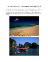 Cát Bà - đảo thiên đường tiềm ẩn của thế giới doc