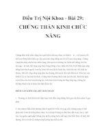 Điều Trị Nội Khoa - Bài 29: CHỨNG THẦN KINH CHỨC NĂNG ppsx