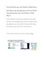 Xem lời bài hát ngay trên Windows Media Player ppt
