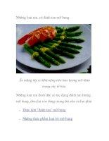 Những loại rau, củ đánh tan mỡ bụng ppsx