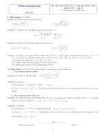 Đề ôn thi học kỳ 2 môn toán lớp 11 - Đề số 35 pdf