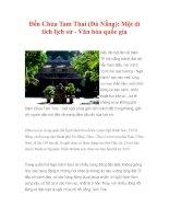 Đến Chùa Tam Thai (Đà Nẵng): Một di tích lịch sử - Văn hóa quốc gia potx