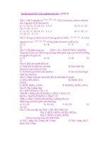 Tuyển tập các câu trắc nghiệm hóa học ( phần 9) potx