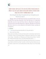 GIỚI THIỆU KẾT QUẢ ỨNG DỤNG CÔNG NGHỆ KHOAN PHỤT CAO ÁP doc