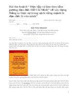 """Bài thu hoạch: Học tập và làm theo tấm gương đạo đức Hồ Chí Minh"""" về xây dựng Đảng ta thực sự trong sạch vững mạnh là đạo đức là văn minh pot"""