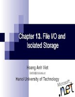 Chapter 13 - File IO and Isolated Storage pps