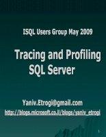 Tracing and Profiling SQL Server potx
