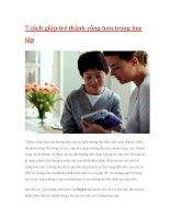 7 cách giúp trẻ thành công hơn trong học tậpThành cô đường học potx