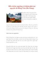 Đến chiêm ngưỡng và khám phá cao nguyên đá Đồng Văn (Hà Giang). docx