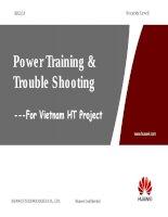 Power Training & Trouble Shooting Case pot