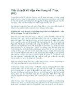 Tiểu thuyết Võ hiệp Kim Dung và Y học (P1) ppt