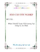 Luận văn: Phân Tích Kế Toán Tiền Lương Tại Công Ty An Thái doc